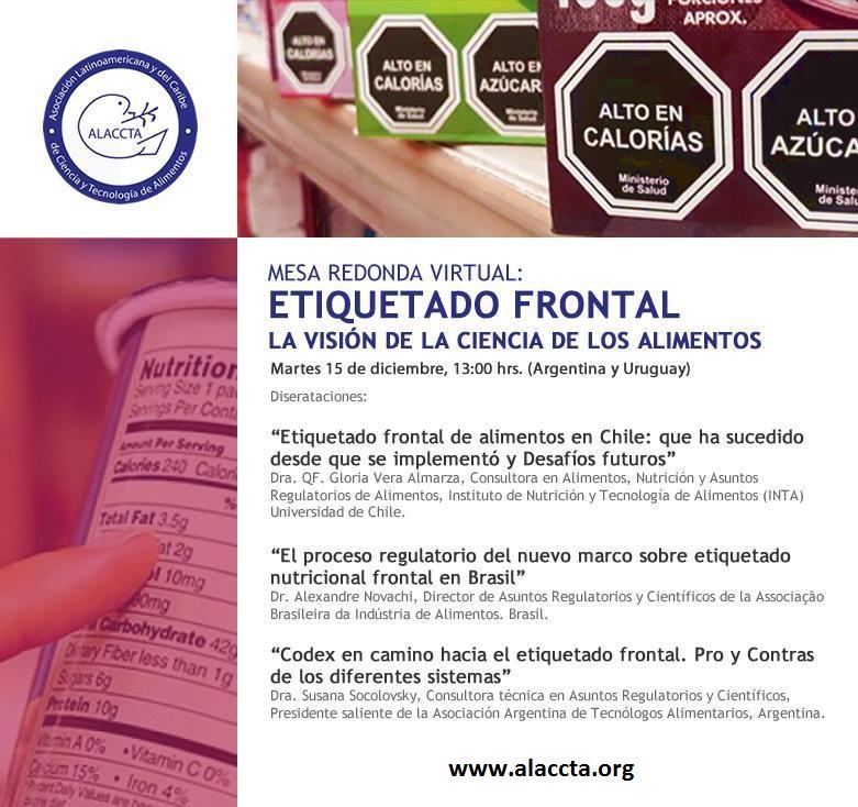 Ver on line: ALACCTA – Mesa redonda virtual sobre Etiquetado Frontal